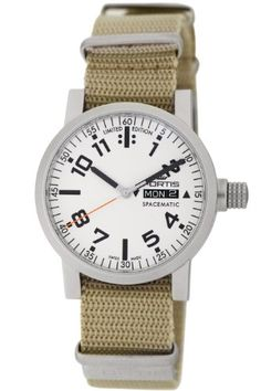 Fortis Mens 623.22.42 N.39 Spacematic Automatic Day and Date Nylon Strap Watch By Fortis