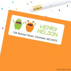 Monsters Address Labels - Sheet of 30