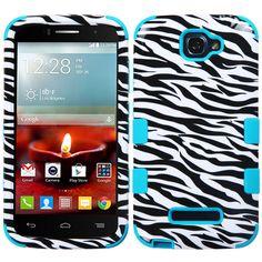 MYBAT TUFF Hybrid Alcatel One Touch Fierce 2 II Case - Zebra/Teal
