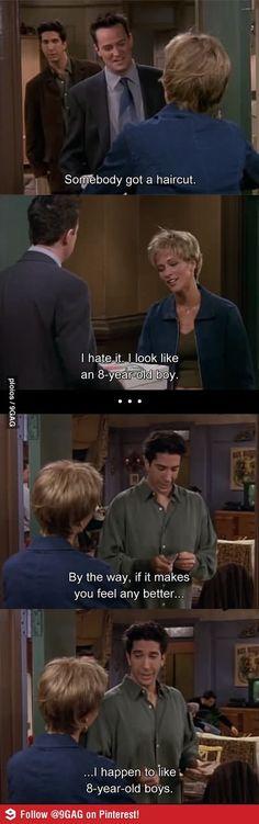 Flirting. Level: Ross Geller