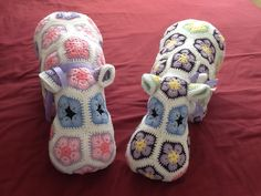 Pair of Happypotomuses from a pattern by Heidi Bears