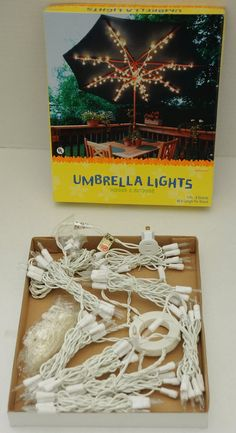LED Patio Umbrella Light Clips To Pole Self Adjusting Grip 3 Settings Hooks  Hang   Summer Time   Pinterest   Patio Umbrella Lights, Umbrella Lights And  ...