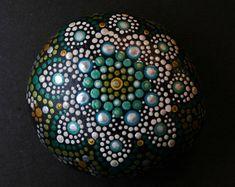 Stone Mandala in Lotus Pattern