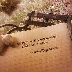 Yüreğini sevdim cancağızım,  Daha sözüm yok...   - Mehmet Beyazbayrak  #sözler #anlamlısözler #güzelsözler #manalısözler #özlüsözler #alıntı #alıntılar #alıntıdır #alıntısözler