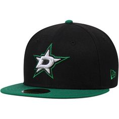 los angeles bc965 aeba0 Dallas Stars New Era 2-Tone 59FIFTY Fitted Hat - Black Kelly Green New