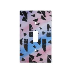 Abstract Colorful 2 Light Switch Cover