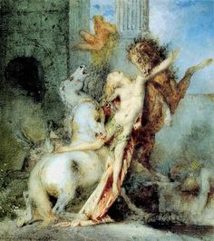 Diomedes Devoured by his Horses - Gustave Moreau (1866) - Category:Mares of Diomedes — Wikimedia Commons