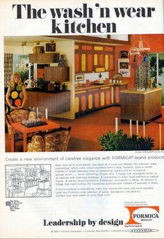 1960s Home Decor, Vintage Appliances, Mid Century Modern Kitchen, New Environment, Vintage Love, Housekeeping, Countertops, Mid-century Modern, Elegant