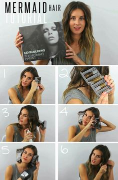 Hair Tutorial // Mermaid Hair Kit. Available for purchase to accomplish beautiful, beachy waves.