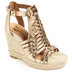 VC SIGNATURE 'Danessa' Wedge Sandal (Women) ($100) ❤ liked on Polyvore