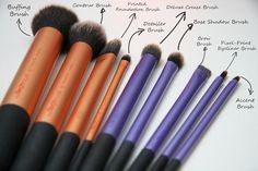 Real Technique brushes - I am saving up my Boots Advantage points for another set of these for my kit! Beautiful makeup brushes!