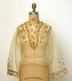 Blouse  Date: 1800–1959 Culture: Turkish Medium: [no medium available] Dimensions: [no dimensions available] Credit Line: Gift of Mrs. Frances Alexander, 1959 Accession Number: C.I.59.34.2