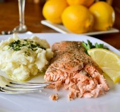Baked Salmon good-recipes  Ideas for a Anniversary Dinner