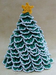 Christmas Tree Toilet Paper Topper - pattern by Maggie Weldon Christmas Tree Branches, Cute Christmas Tree, Crochet Christmas Trees, Christmas Ornaments, Christmas Ideas, Christmas Crafts, Crochet Crafts, Crochet Projects, Crochet Designs
