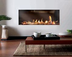 Contemporary hole in the wall fireplace