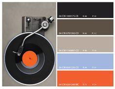 retro color themes, retro orange and neutral color theme, retro color inspiration, retro mood board