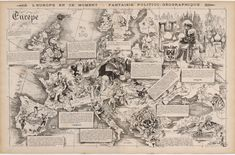 Allegorical map of Europe following the Franco-Prussian War (1872)