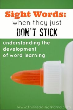 Sight Words: When They Just Don't Stick ~ understanding the development of word learning - plus great links to sight word games Teaching Sight Words, Sight Word Practice, Sight Word Games, Sight Word Activities, Reading Activities, Dyslexia Activities, Reading Games, Reading Groups, Literacy Activities