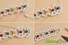 make the third part of the seed beads bracelet