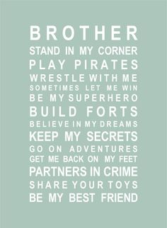 CHILDREN :: Baby Gifts :: Bedroom Decoration :: Brother Poster - Gift ideas & present ideas for all occassions | My Favourite