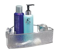 InterDesign Rain Power Lock Suction Corner Basket, Clear by InterDesign. $19.99. Super strong locking system. A great place to organize shampoos, conditioners, body wash, and shaving cream.. Brushed stainless steel accents. Lift, push and lock feature for secure adhesion to smooth surfaces.. Easy to install - no hardware needed. Who said shower accessories have to be cold and industrial to be practical? These attractive caddies and accessories feature a decorat...