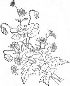 This came from embroiderists photo stream. This image came from Embroiderist's JF Ingalls set Hand Embroidery Patterns, Ribbon Embroidery, Floral Embroidery, Cross Stitch Embroidery, Embroidery Designs, Colouring Pages, Coloring Books, Doodle Patterns, Doodle Borders