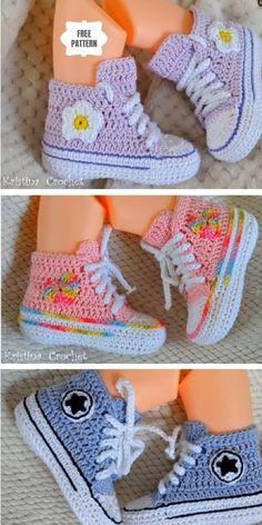 Crochet Baby Boots, Crochet Baby Sandals, Booties Crochet, Crochet Baby Clothes, Crochet Shoes, Crochet Slippers, Knitted Baby, Crochet Baby Stuff, Crochet For Baby