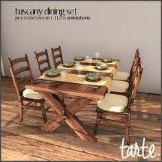 tarte. tuscany dining set