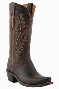 Lucchese Women's Chocolate Madras Goat Cowgirl Boots
