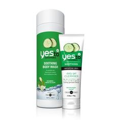 Yes to Cucumbers Head to Toe Clean- comes with body wash and daily face cleansing gel. WANT!