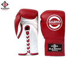 Kango Fitness PU Boxing Punch Bag Gloves Red Black and White 10-14oz