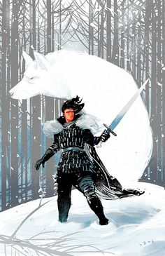 Jon Snow Game of Thrones « Elliot Lang Illustrations