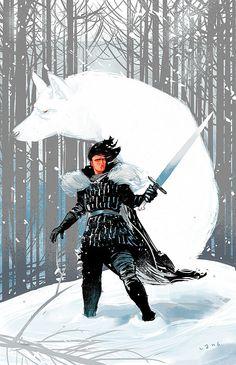 Jon Snow Game of Thrones « Elliot Lang Illustrations