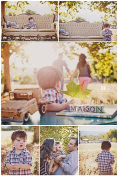 Such a cute family photoshoot! Love the couch idea with it! Photography Props, Children Photography, Family Photography, Amazing Photography, Family Photo Sessions, Family Photos, Mini Sessions, Cute Kids Pics, Kid Pics