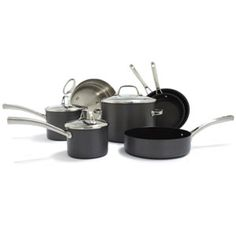 Sur La Table Hard Anodized Nonstick. An excellent all-around value, this anodized aluminum cookware heats evenly on gas and electric ranges and maintains a perfectly-steady simmer.