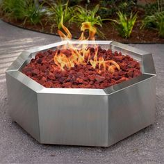 Alpine Flame 42-Inch Stainless Steel Octagon Fire Pit - Natural Gas available at Ultimate Patio. This Alpine Flame 42 Inch Stainless...