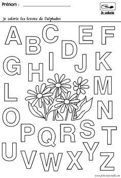 Maternelle rentrée des classes : l'alphabet Alphabet Kindergarten, Alphabet Activities, French Teaching Resources, Teaching French, French Alphabet, French Worksheets, Petite Section, Free Printable Coloring Pages, Literacy Centers