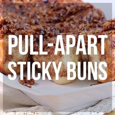 Easy, Make-Ahead Sticky Buns With the convenience of frozen bread dough, you can assemble these in minutes the night before, let them rise over night, and bake them in the morning. Always a hit! Brunch Recipes, Sweet Recipes, Breakfast Recipes, Dessert Recipes, Burger Recipes, Potato Recipes, Snack Recipes, Cinnamon Roll Monkey Bread, Cinnamon Rolls