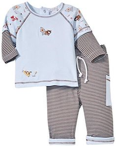 Kissy Kissy Baby Boys Playful Pups Pant Set Blue03 Months -- Want to know more, click on the image. (This is an affiliate link) #BabyBoySleepwearRobes