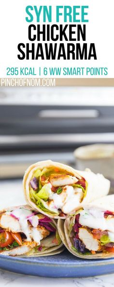 Syn Free Chicken Shawarma Pinch Of Nom Slimming World Recipes 295 kcal Syn Free 4 Weight Watchers Smart Points Slimming World Lunch Ideas, Slimming World Dinners, Slimming World Recipes Syn Free, Slimming World Diet, Slimming Eats, Slimming Word, Lunch Recipes, Diet Recipes, Chicken Recipes