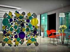 Stained glass adds an artistic personality to a home's design. So here you go for ideas to decorate with stained glass: A Contemporary Room Divider Mosaic Glass, Fused Glass, Stained Glass, Glass Art, Artistic Room, Glass Room Divider, Room Dividers, Divider Screen, Glass Screen