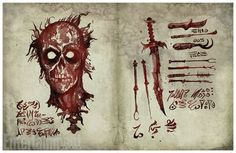 Today we get to see the Necronomicon from Star's Ash vs Evil Dead TV series. The Necronomicon is the Book of the Dead and everything looks befitting, Thes. Evil Dead Book, Evil Dead Movies, Ash Evil Dead, Book Of The Dead, Best Horror Movies, Scary Movies, Awesome Movies, Arte Horror, Horror Art