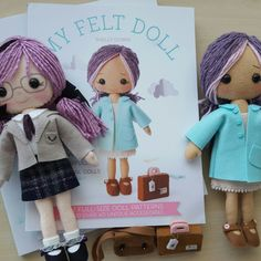 My Felt Doll books available in my shop again!