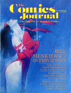 1986 - Anatomy of a Cover - Comics Journal #107 by Bill Sienkiewicz.