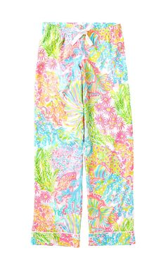 6335dd8871c6cf Lilly Pulitzer Womens Printed Pajama Pant Night Outfits, Bermuda Shorts,  Coral, Swim Trunks