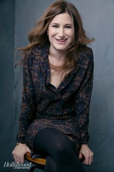 The D Train's Kathryn Hahn photographed at The Hollywood Reporter photobooth at the 2015 #Sundance Film Festival in Park City, Utah on Jan. 23, 2015.