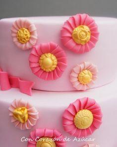 flore joya, fabric flowers, idea fondant, de azúcar, decoracion fondant, flower tutorial, joya paso, sugar flowers, con corazón