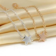 2 pcs Europe Style Star Pendant Charm Chain Bracelet Couple Bracelets Jewelry Friendship Gifts to Friends Lover - Hespirides Gifts
