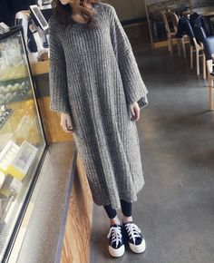 Knitted Maxi Dress Normcore, Sweaters, Dresses, Style, Fashion, Vestidos, Swag, Moda, Fashion Styles