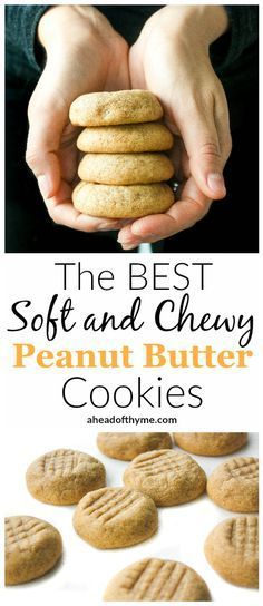 The Best Soft and Chewy Peanut Butter Cookies: What is better than classic, soft and chewy peanut butter cookies? Umm... not a whole lot comes to mind. Get ready to fall in love with a cookie | aheadofthyme.com